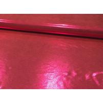 Stretch metallic dot shine on lycra Cherry red on orange