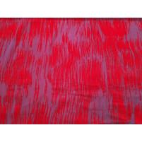 Rød velour striber på lilla net