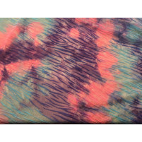Velvet stripes Coral / electric blue