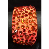 Armbånd Fluorescent red med Fire opal
