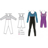 3387 girls unitard