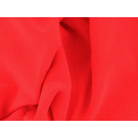 Luxury crepe Fluorescent rød