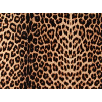 Animal print brun/sort på luxus crepe
