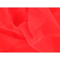 Georgette Fluorescent. red