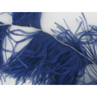 Ostrich feather fringe Blueberry