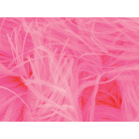 Ostrich feather fringe Flamingo pink