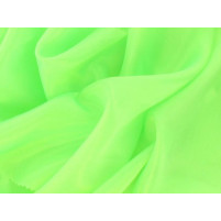 Satin chiffon Electric green
