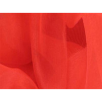 Satin chiffon Fluorescent red