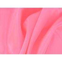 Satin chiffon Flamingo pink