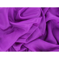 Satin chiffon Hot magenta
