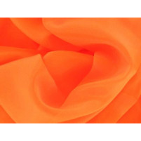 Satin chiffon Orange