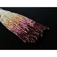 Shaded bugle bead dropper sølv til Amethyst