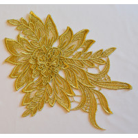 Stor 3D blomst Guld