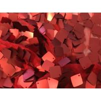 Røde matte pailletter på stræk net