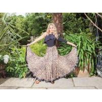 Tania Circular panel ballroom skirt Leo