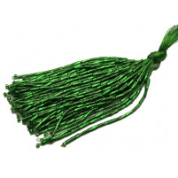 Bugle bead dropper bunch Emerald