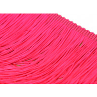 Stretch fringe Cerise