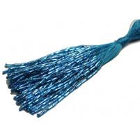 Bugle bead dropper bunch Aqua