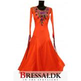 Orange standard kjole