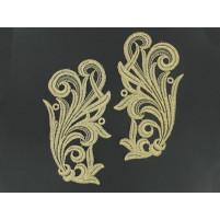 Tamara motif Antique gold