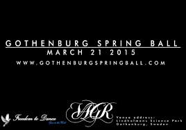 Gothenburg spring ball 2016